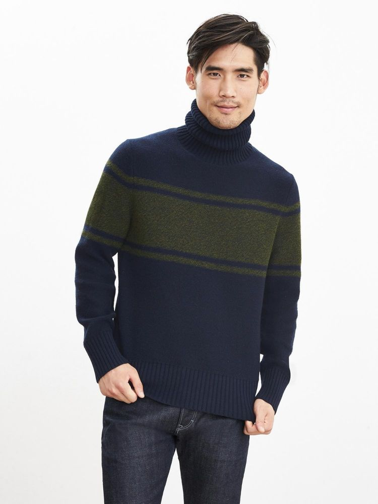 Nwt Banana Republic Men S Turtleneck Wool Sweater Color