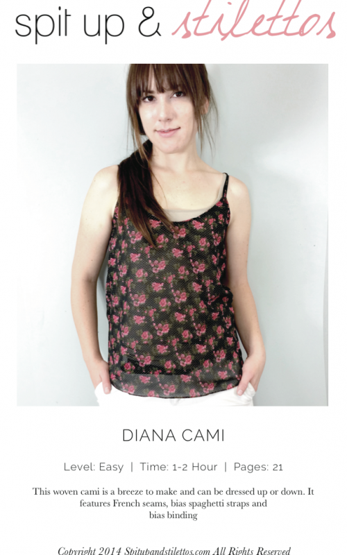 SpaghettiTop, Sommer Top, XS-XL, Diana Cami Free pattern | Sewing ...