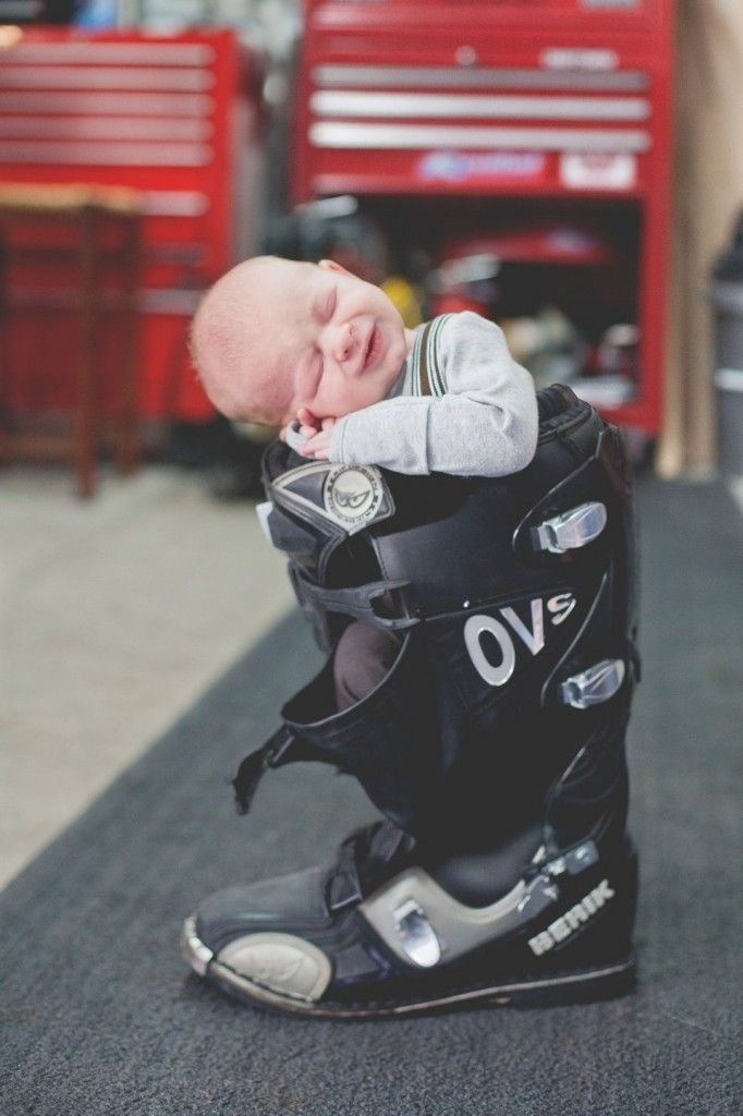 Amie Pendle Photography 0116 Newborn Lifestyle Motorcycle Boot
