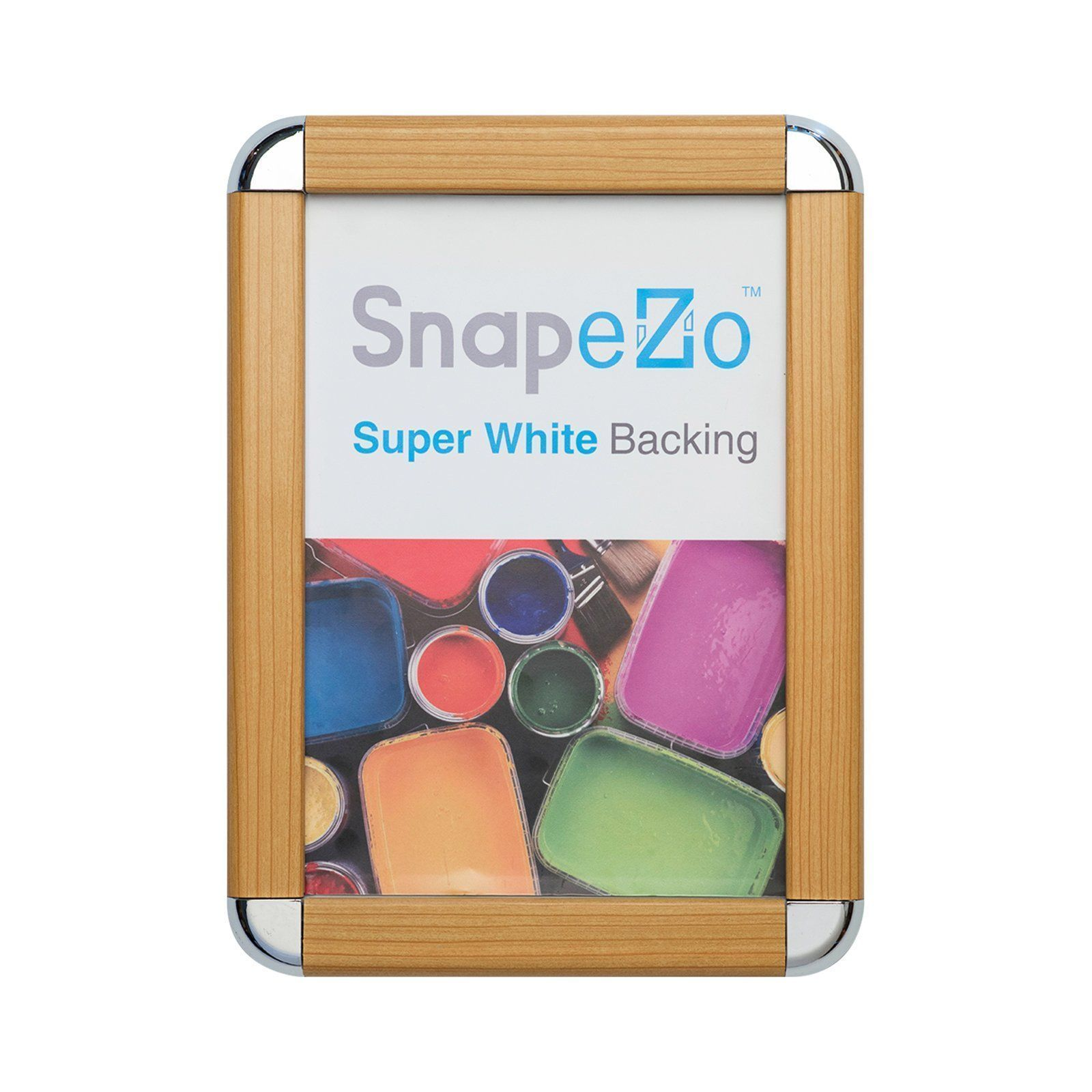SnapeZo Poster Frame 22x28 Inches, Light Wood Effect 1.25\