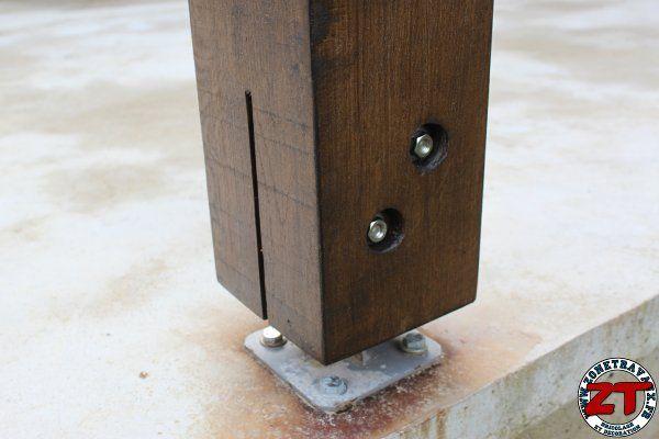 visserie assemblage pergola 1 bricolage pinterest poteau persienne bois et fixation. Black Bedroom Furniture Sets. Home Design Ideas