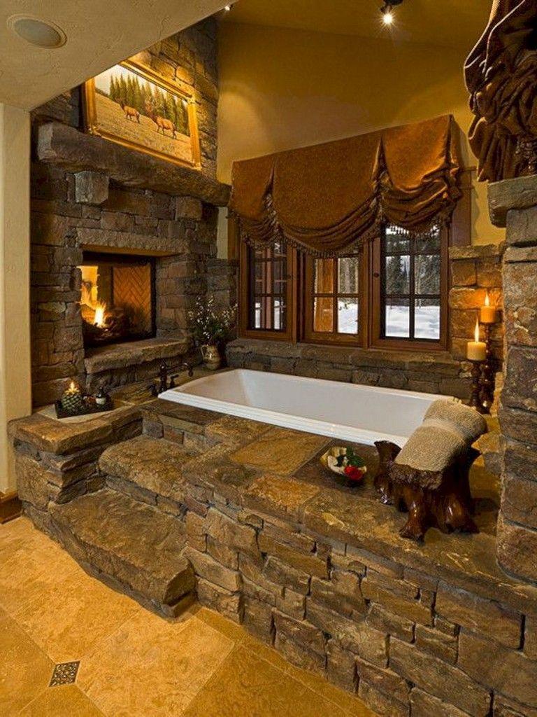 40 Heavenly Bathroom Decor Ideas Rustic Bathrooms Rustic Bathroom Designs House Design