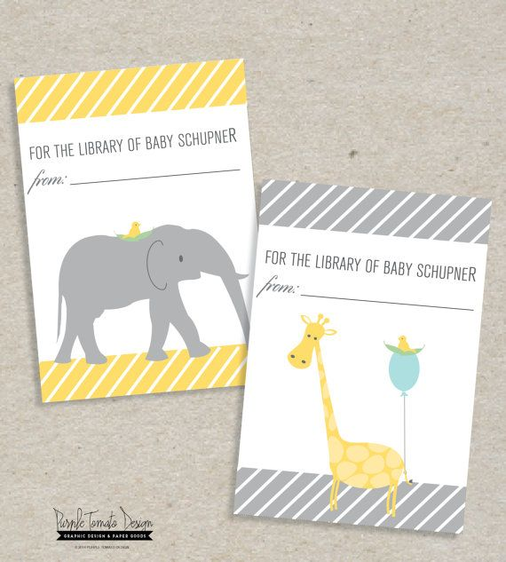 Baby Shower Stickers Labels Personalised Giraffe Design