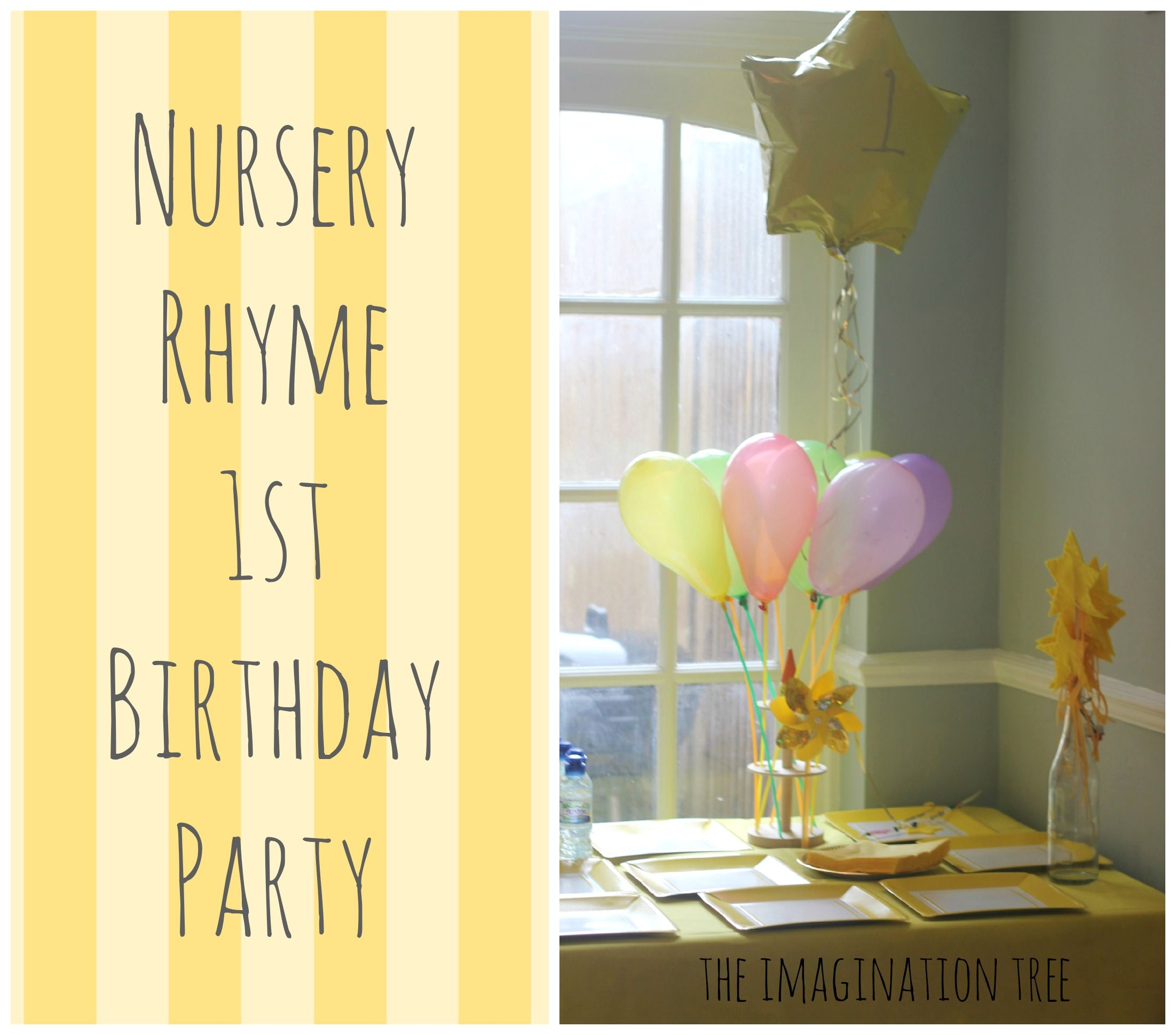 Baby Children Nursery Rhyme Song Nursery Rhyme Party For Baby 39s 1st Birthday Birthday