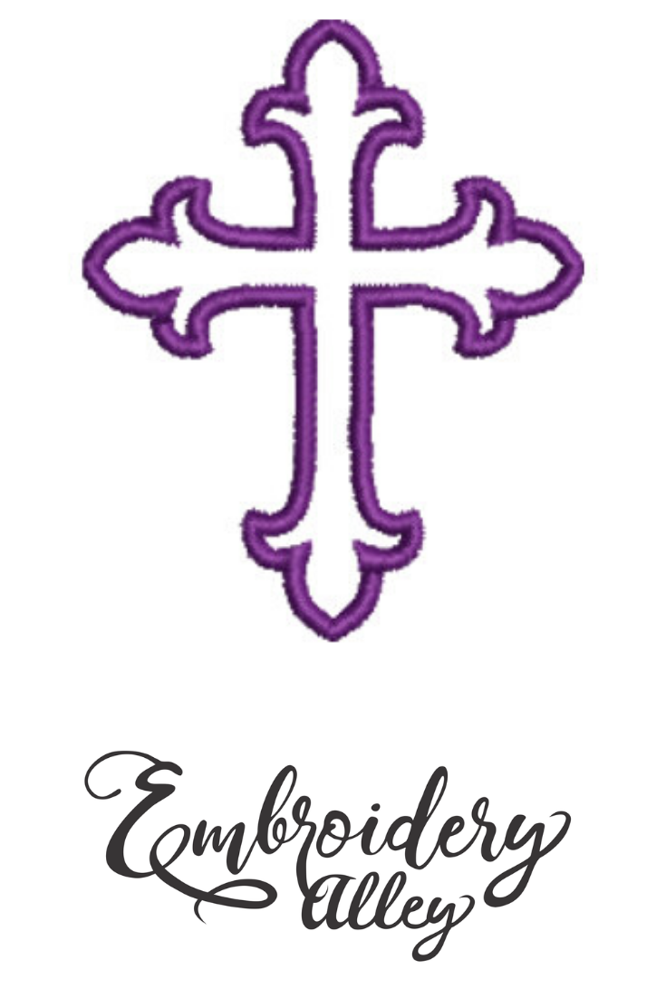 Cross Embroidery Design Cross Embroidery File Available In Most Embroidery Machine Form Cross Embroidery Designs Embroidery Designs Machine Embroidery Designs