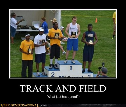Funny Track And Field Demotivational Posters Track And
