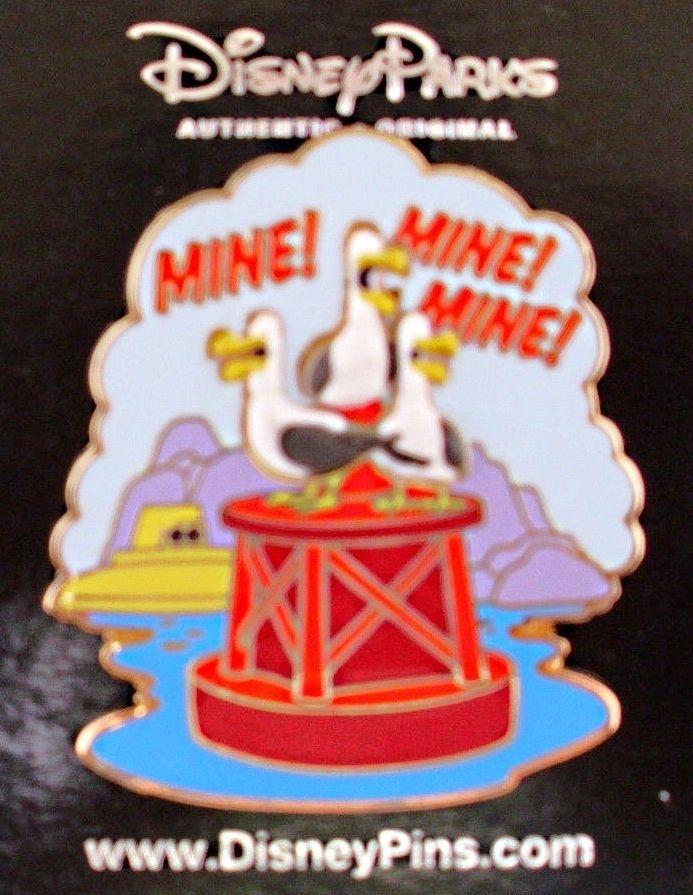 Disney * Mine! Mine! Mine! Finding Nemo - Seagulls * New on Card Attraction Pin