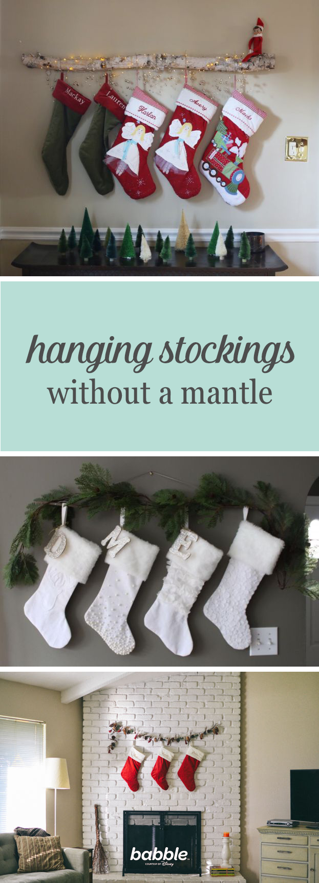 9 Ways To Hang Stockings If You Dont Have A Mantle Holiday Crafts