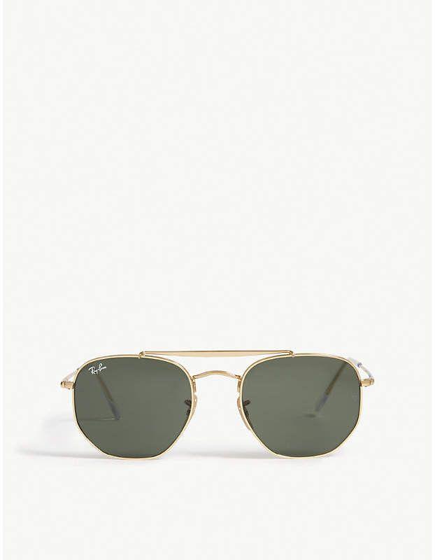 46f3ecc236ad6c Ray-Ban Marshal Rb3648 hexagonal frame sunglasses   Unique fashion ...