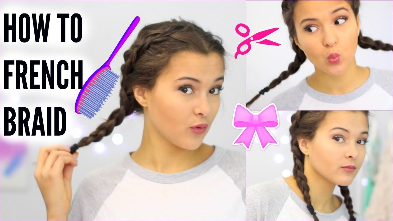 How To French Braid Your Own Hair Dutch Braid Youtube With