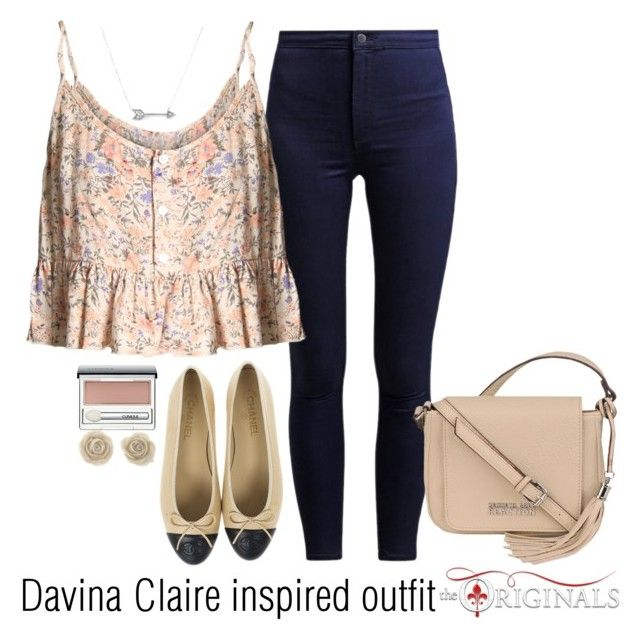 """Davina Claire inspired outfit/TO"" by tvdsarahmichele ❤ liked on Polyvore featuring Clinique, Kenneth Cole and Adina Reyter"
