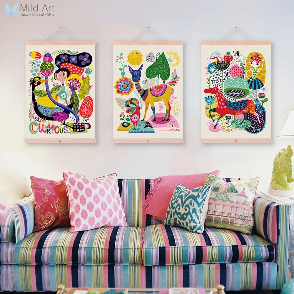 Painting Canvas Art Cheap Wall Print Home Interior Street Art Kids Painting