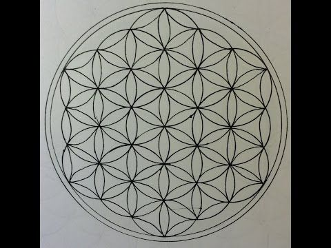 How to draw the flower of life sacred geometry step by step tutorial english
