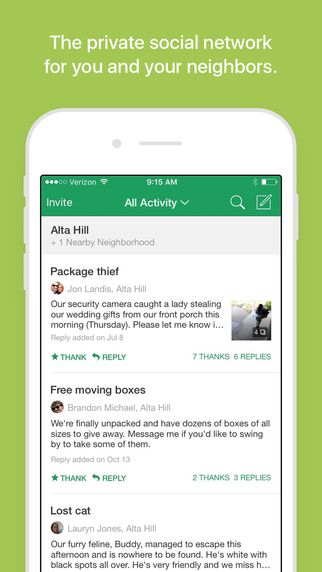 Nextdoor Neighborhood News, Classifieds, Crime Watch