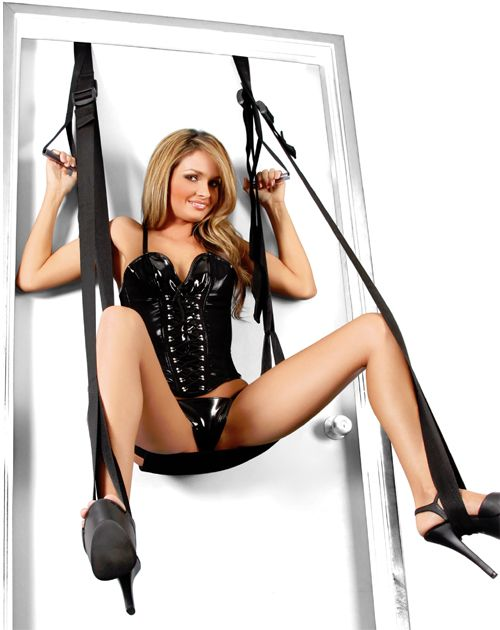 Girls on the adult swings