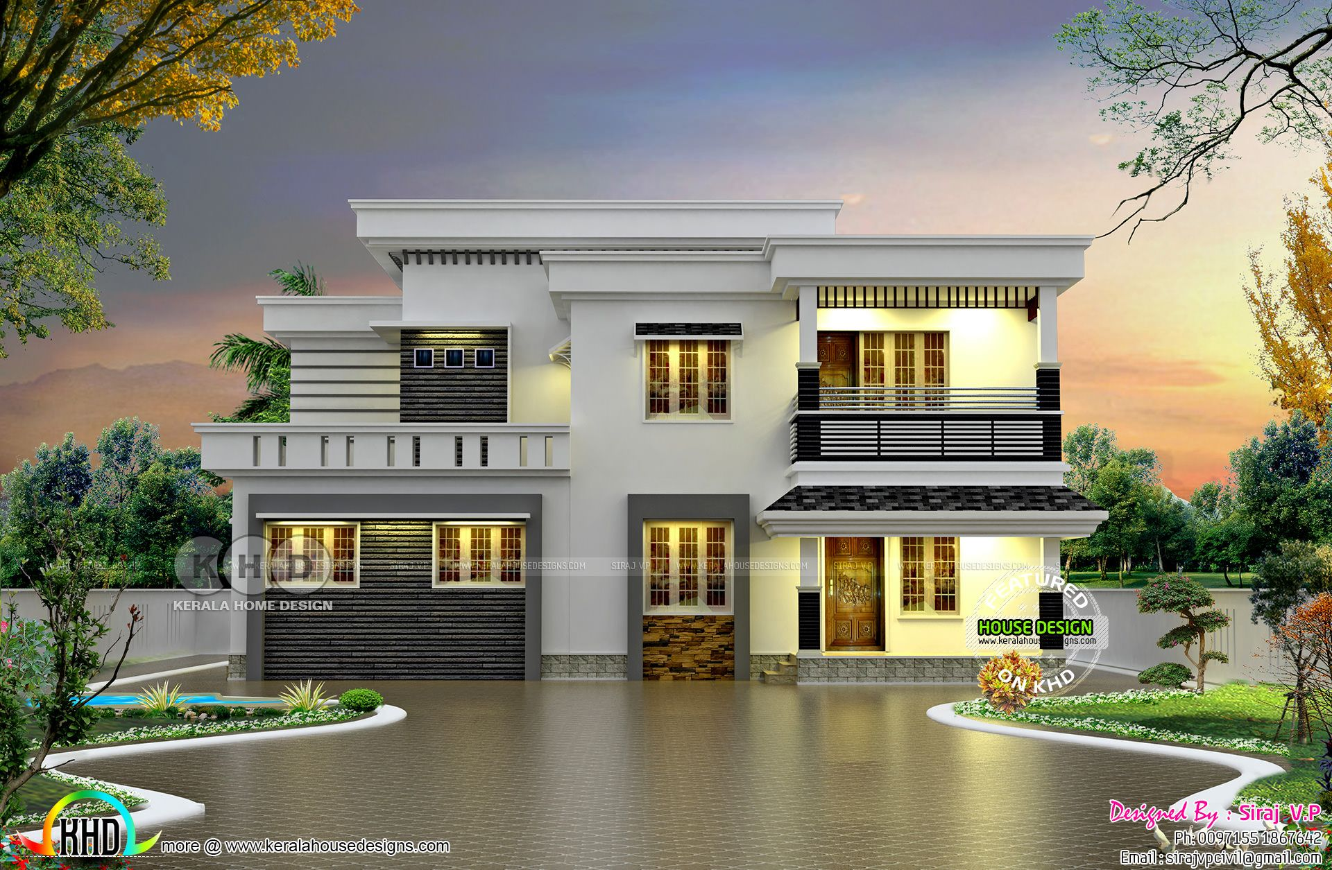 House 01 Flatroof Jpg 1920 1255 Kerala House Design Architect Design House Unique House Design