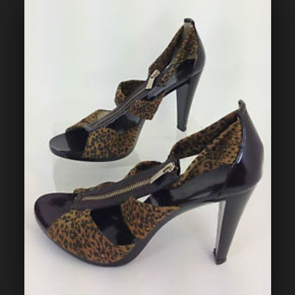 Micheal Kors cheetah heels Very comfortable, the cheetah part is stretchy so if you have wide feet it will fit, and it good condition just need cleaning. Michael Kors Shoes Heels