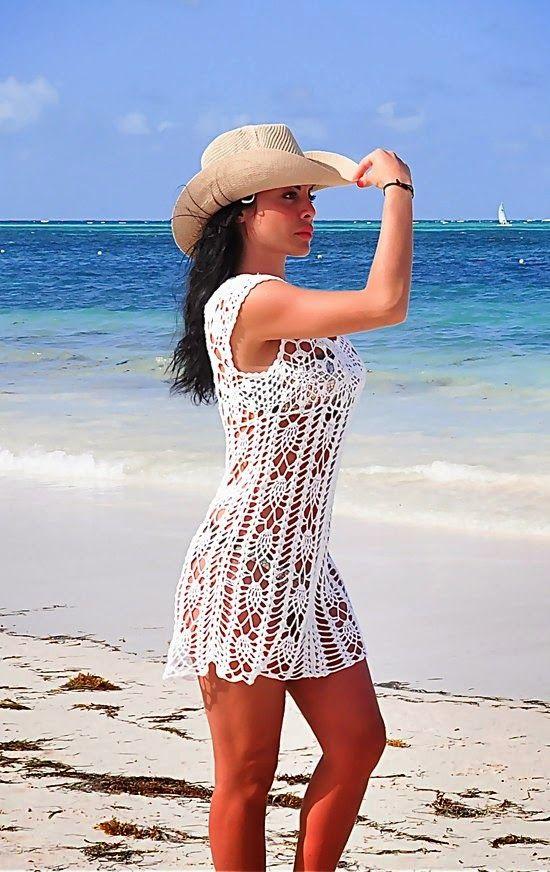 Inspirações de Croche com Any Lucy  Saída de Praia Mais a3497979c99