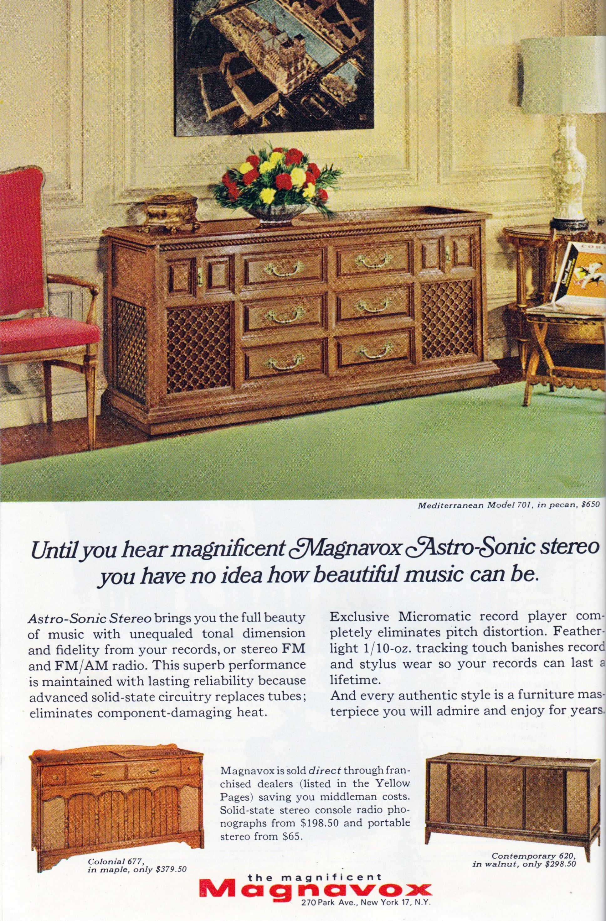 Magnavox Console | Vintage Ads 1950s-1970s | Vintage appliances