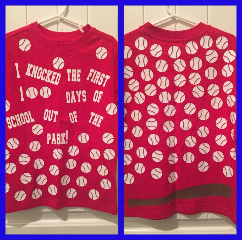 100th Day Of School Shirt My Son Loves Baseball 100 Day Shirt