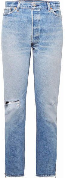+ Levis Zip-embellished Distressed High-rise Straight-leg Jeans - Light blue Re/Done Free Shipping Store Outlet Marketable Deals Online Free Shipping Official Site jnIgGhCf