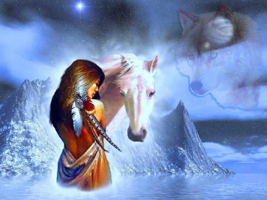 Native American Horses Wallpaper Free Native American Woman And