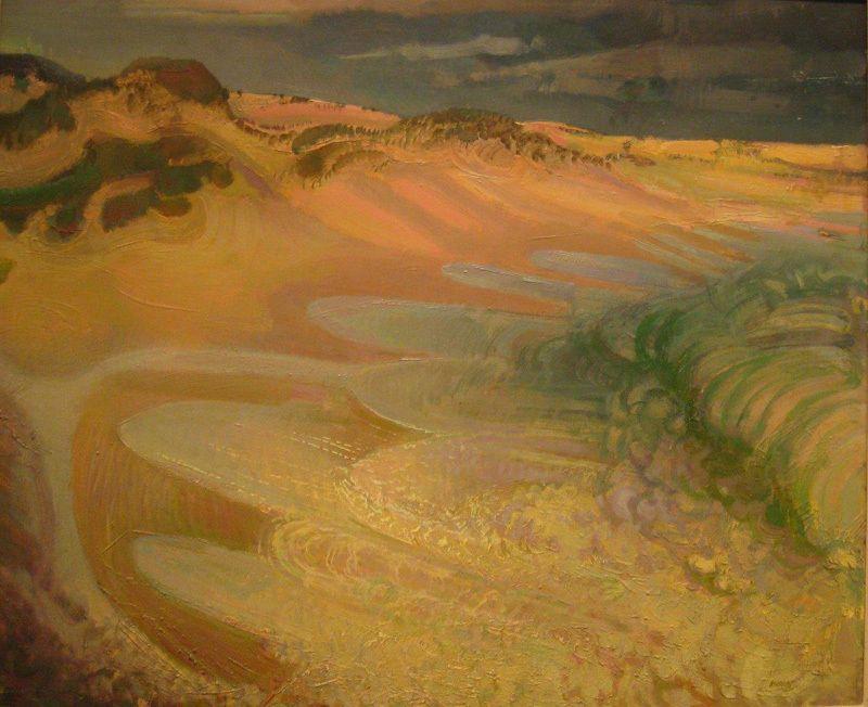 'Back Beach Surf',  1950, Murray Griffin