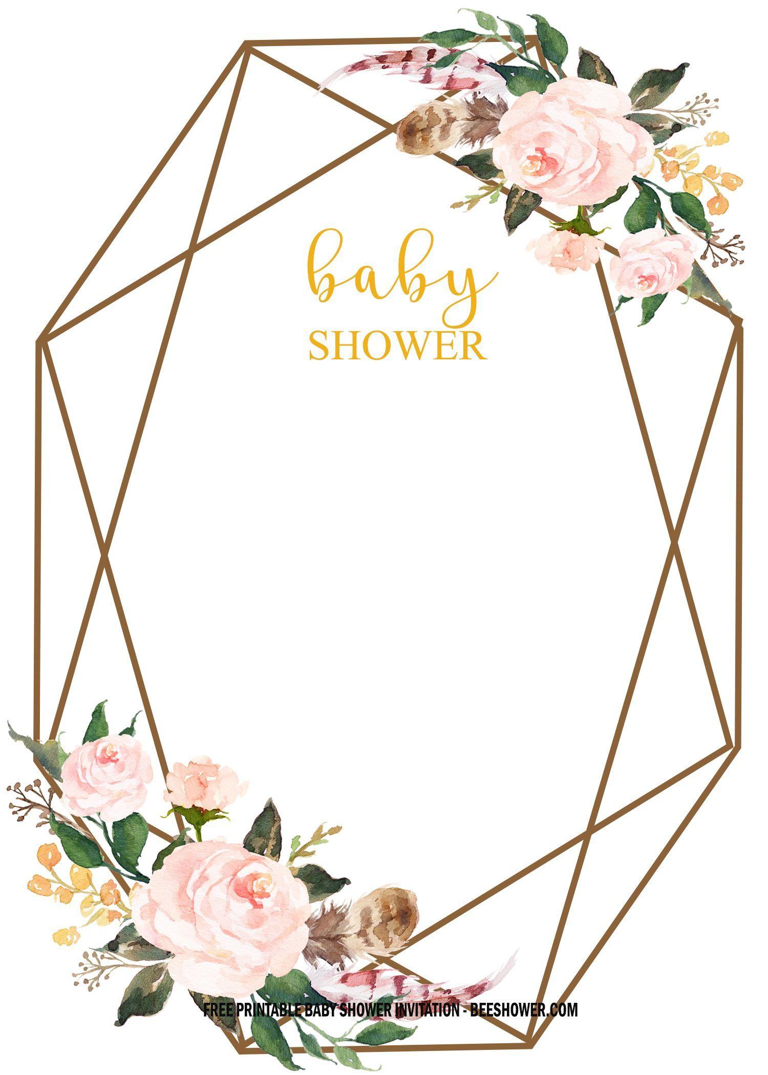 FREE Floral Baby Shower Invitation Templates - Vintage ...