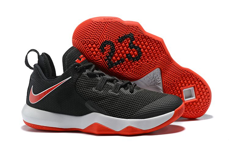 newest 04c73 bfd2d Nike LeBron Ambassador 10 Black White-University Red LeBron James  Basketball Shoes
