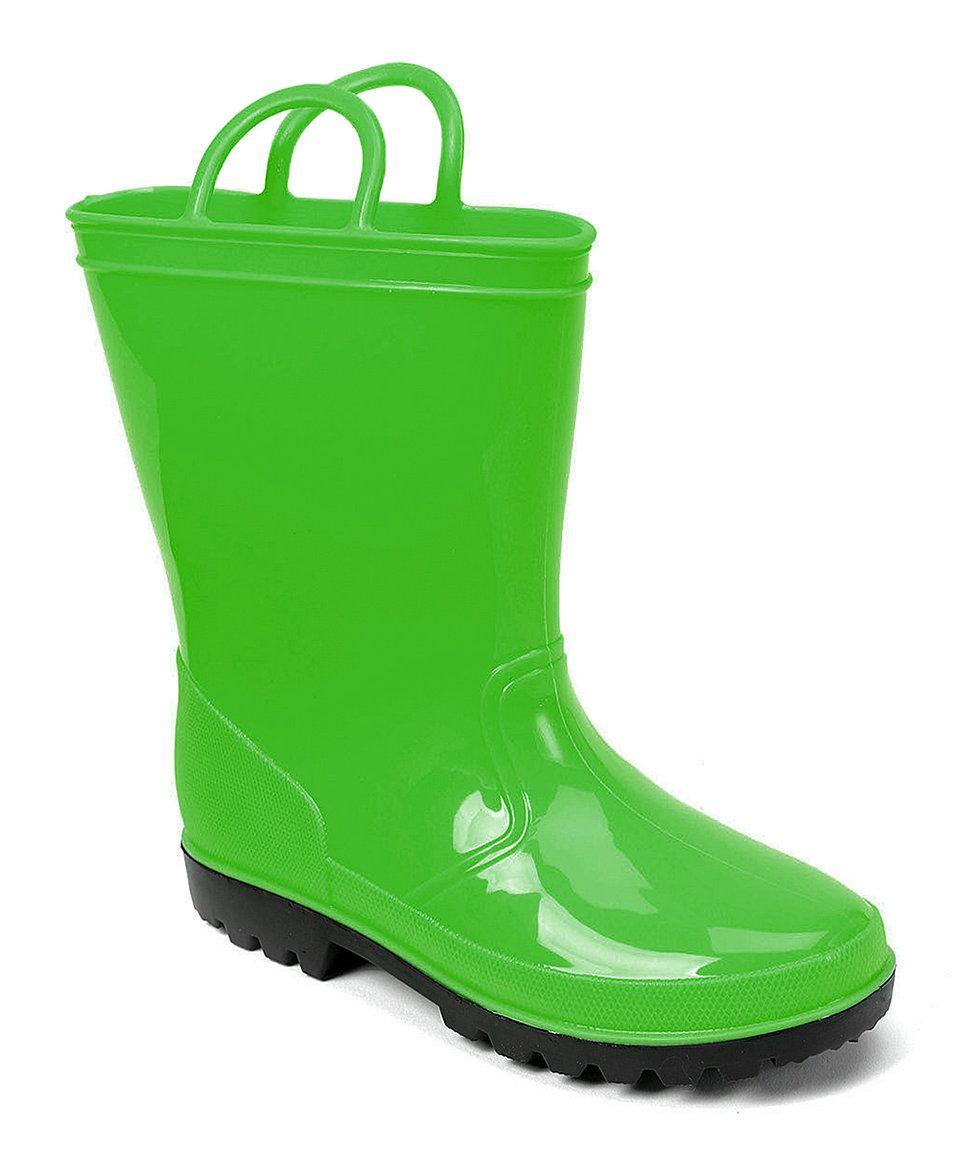 Skadoo Green Shiny Rain Boot | Rain boots, Rain and Boots