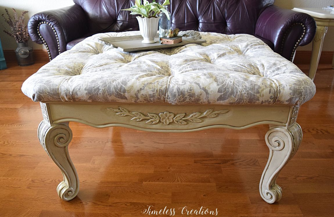 Delicieux Coffee Table Turned Into A Tufted Ottoman