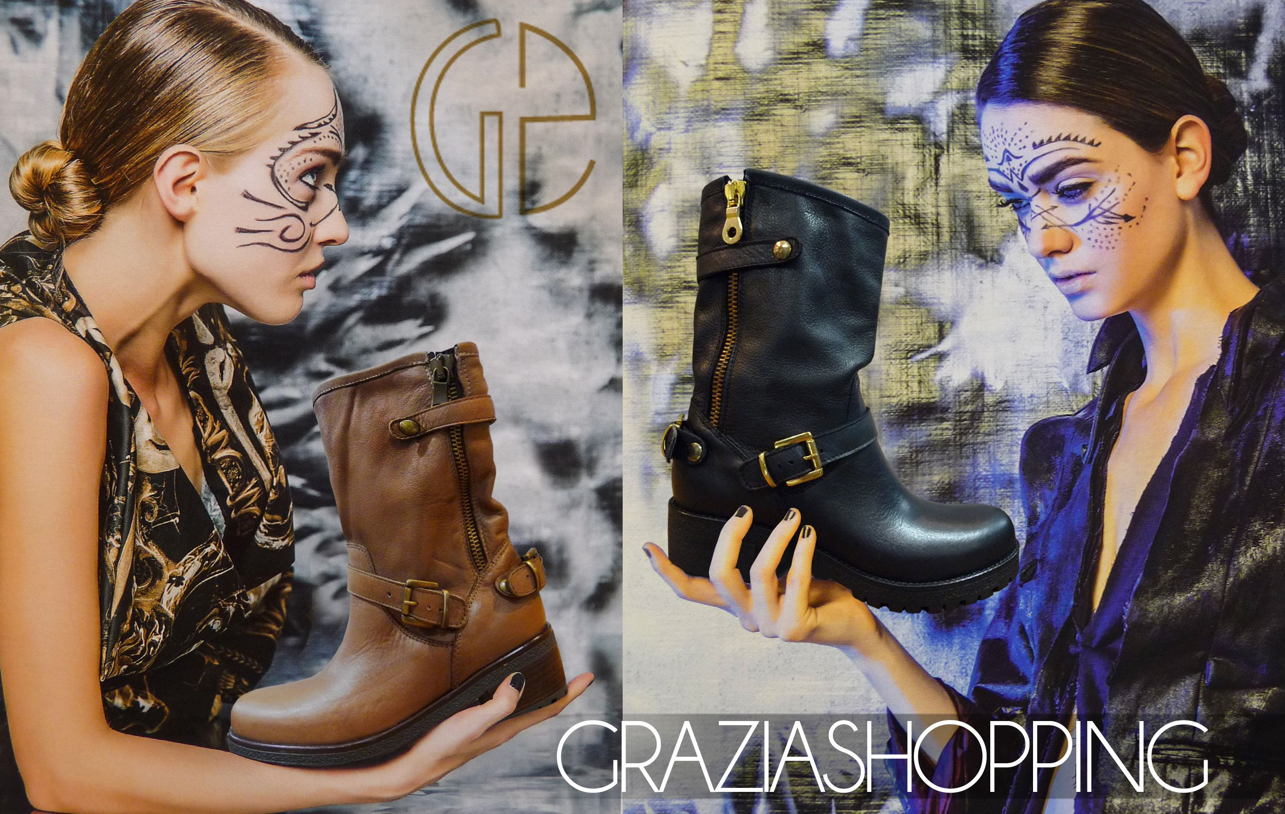 Collection #boots & #bottes #bottines #graziashopping #lyon !! #boutique #shoes #leather #cuir #rock #motarde #motard
