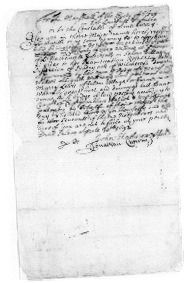 Witch trial warrant ~ 30 April 1692