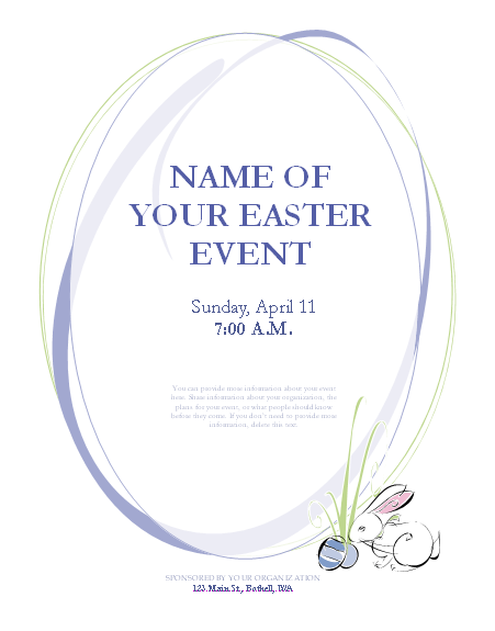 Colorful Easter Flyer Template With Easter Invitation  Office