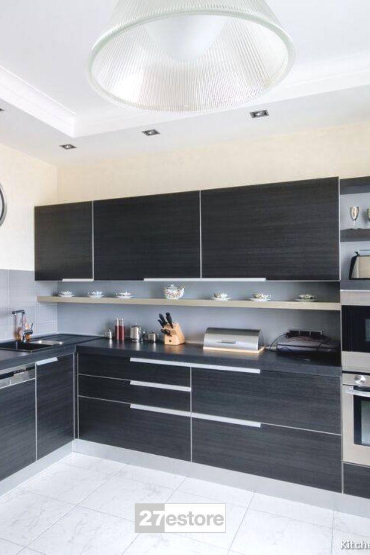 High Gloss Metallic Black Elm With Images Sleek