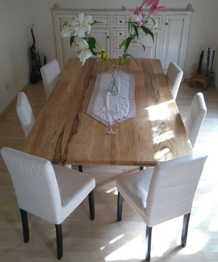 Table Salle A Manger Bois Massif Acp37 Throughout Table Salle A