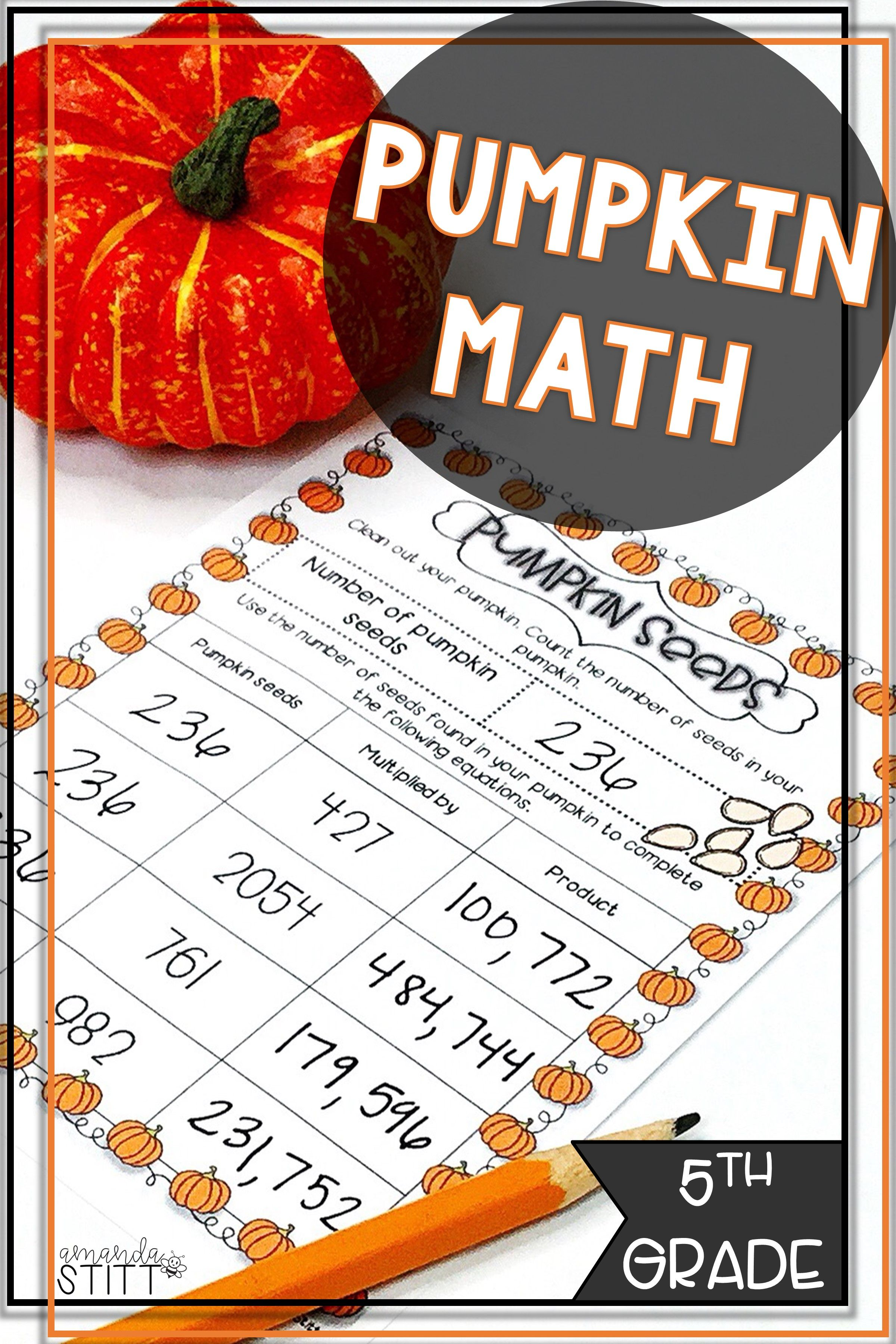 Pumpkin Math Activities