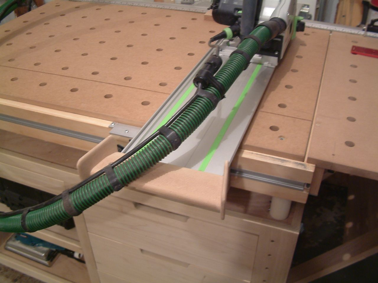 My Custom Built Guide Rail Deflector Festool Woodworking Custom Woodworking