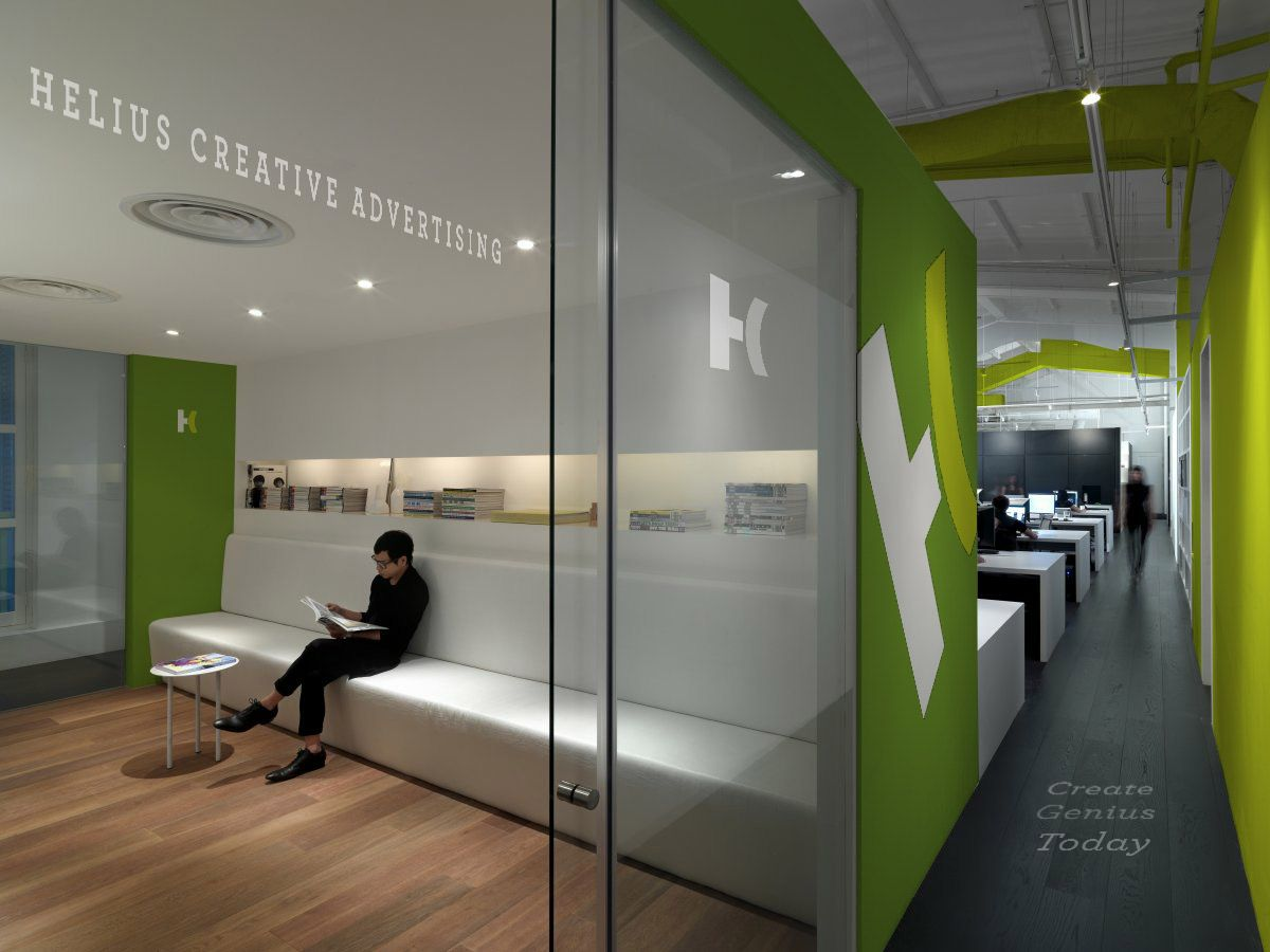 Inspiring and innovative office space design for enhancing the creative  work environment for designing logos,