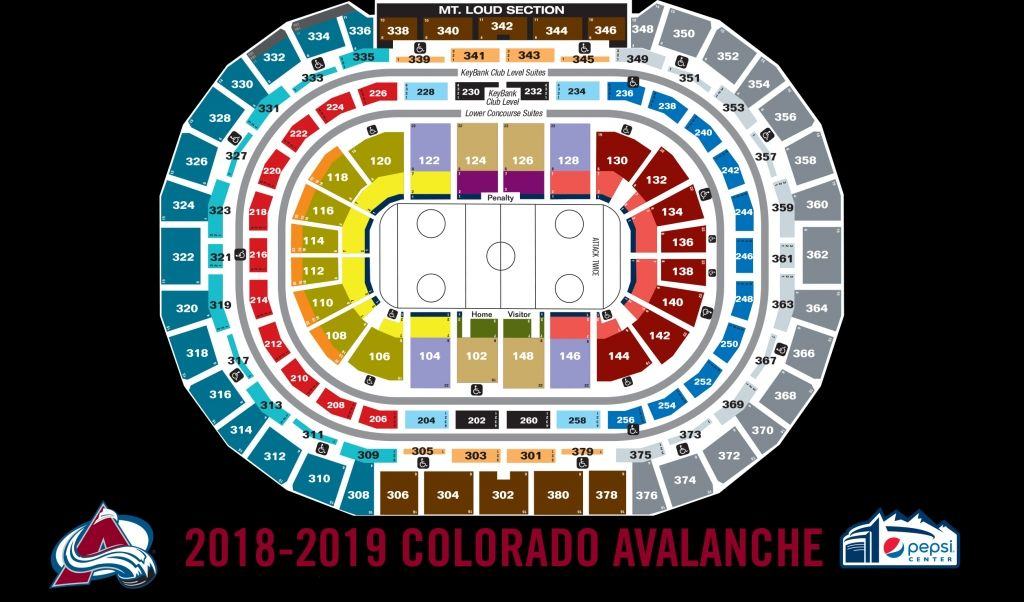The Awesome And Interesting Avalanche Seating Chart Pepsi Center Seating Charts Chart