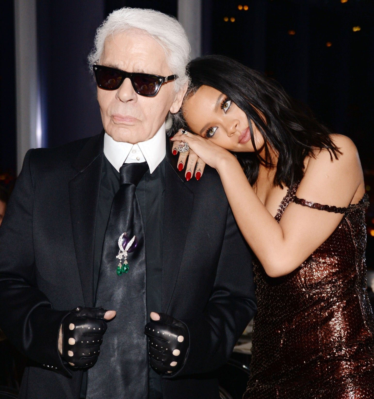29281c1de5 New York Fashion Week s Party Animals - Karl Lagerfeld and Rihanna