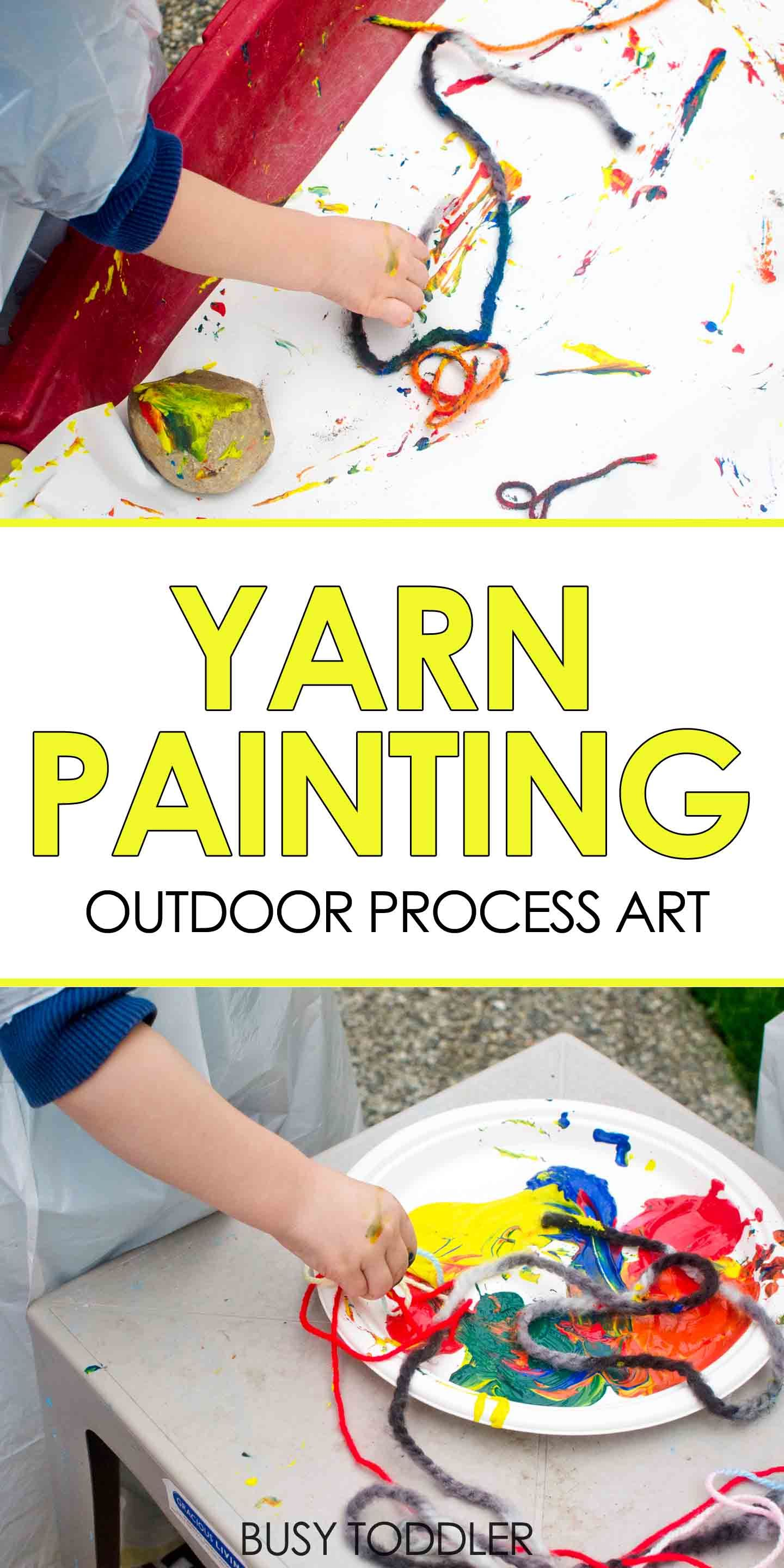Yarn Painting Outdoor Process Art