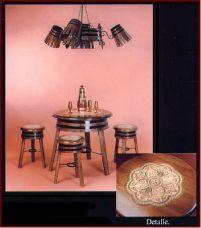 Conjunto de mesa y taburetes con dise o de barril de vino - Botelleros de vino ...