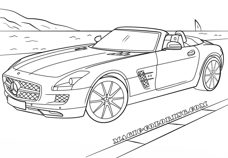 Mercedes Benz Sls Amg Coloring Page Mercedes Benz Sls Mercedes Sls Mercedes Benz Sls Amg
