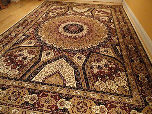 Amazon Com Silk Persian Qum Design Area Rug 7x10 Beige Antique Floral Carpet Ivory Rugs 6x9 Rugs Luxury Tradit Rugs In Living Room Silk Area Rugs Ivory Carpet