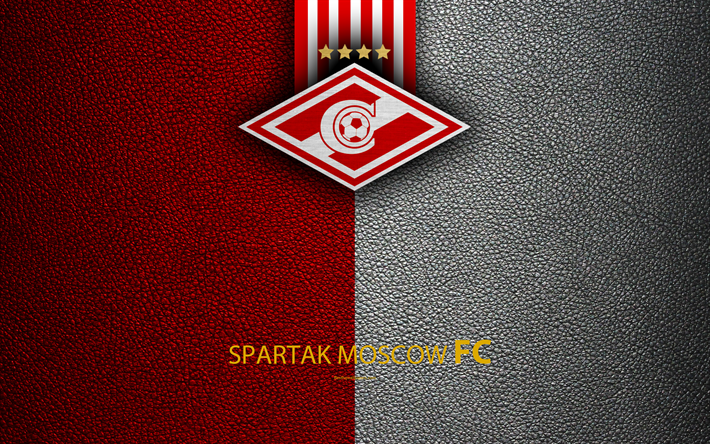 Download Wallpapers FC Spartak Moscow, 4k, Logo, Russian