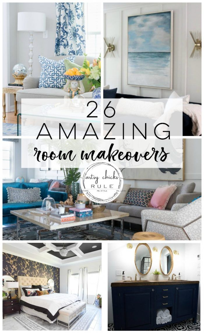 26 DIY Room Makeovers - Before and After | Living room ...