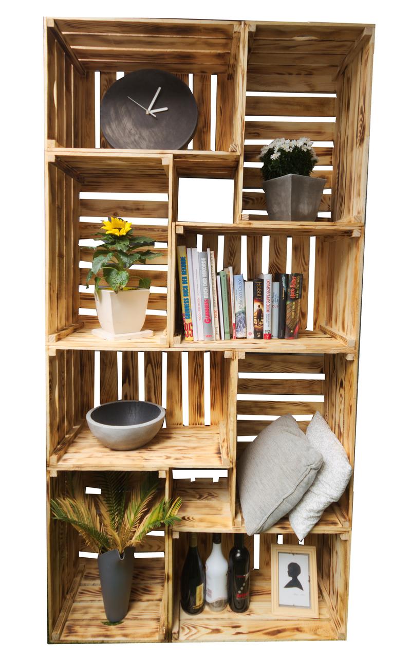 regale aus obstkisten regale und m bel aus obstkisten. Black Bedroom Furniture Sets. Home Design Ideas