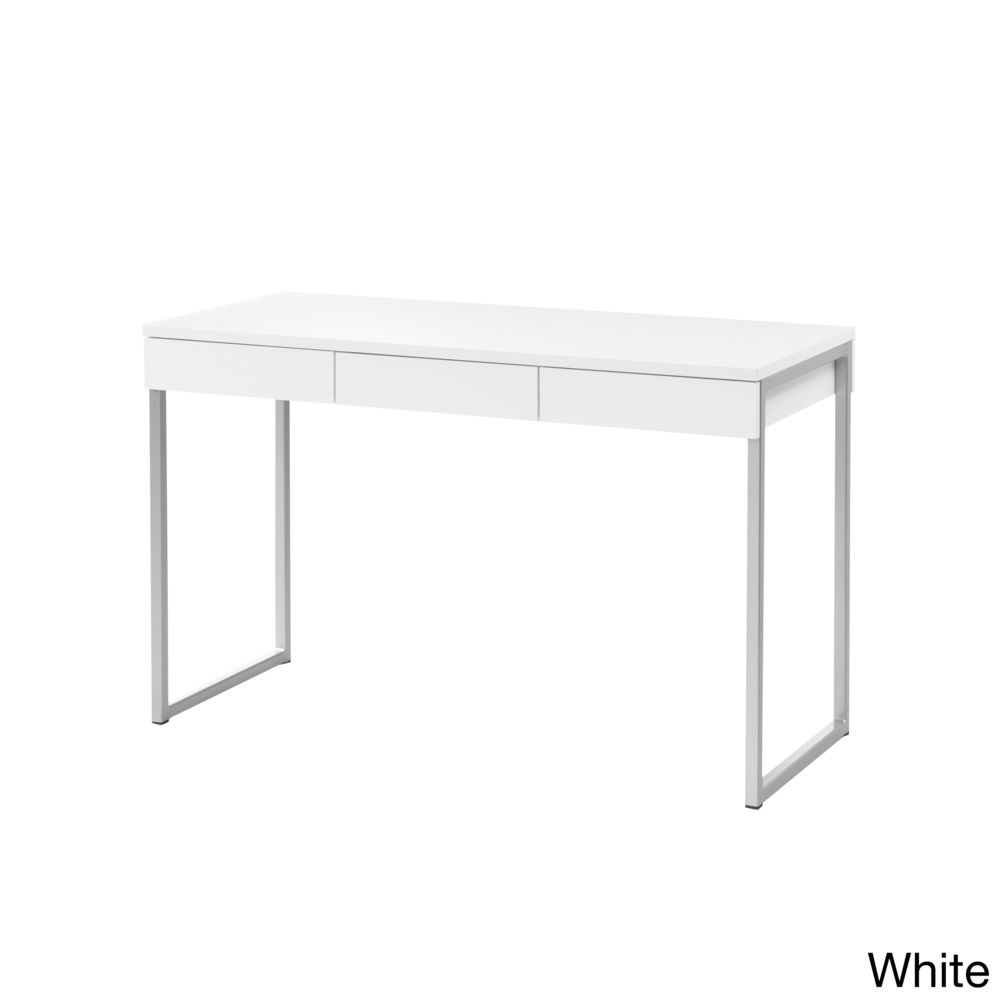 modern home office featuring glossy white. Whitman Plus Office Desk | Overstock™ Shopping - Dimensions: 30.11 Inches High X 49.5 Modern Home Featuring Glossy White T