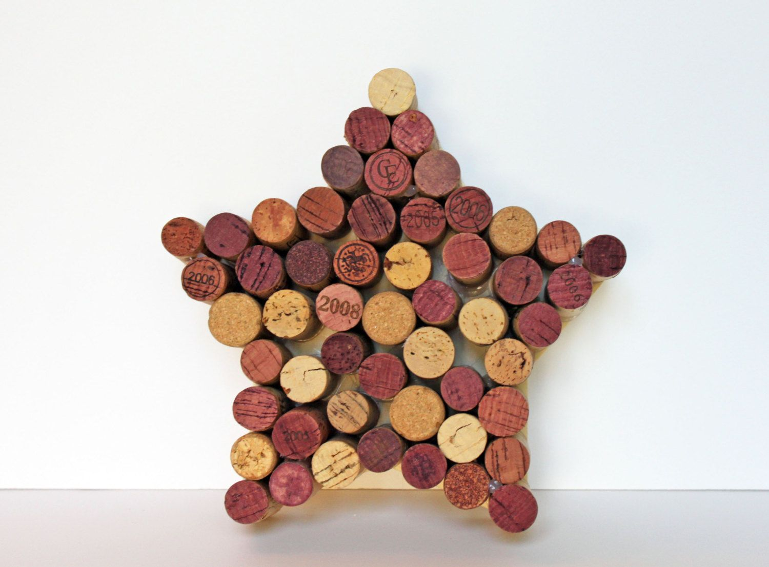 Wine Cork Star Wall Hanging by BananaBeanDesign on Etsy